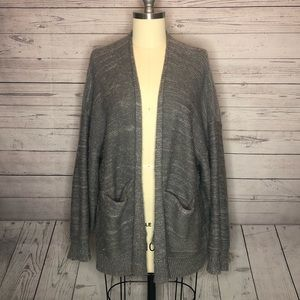 Urban outfitters grey knitted cardigan